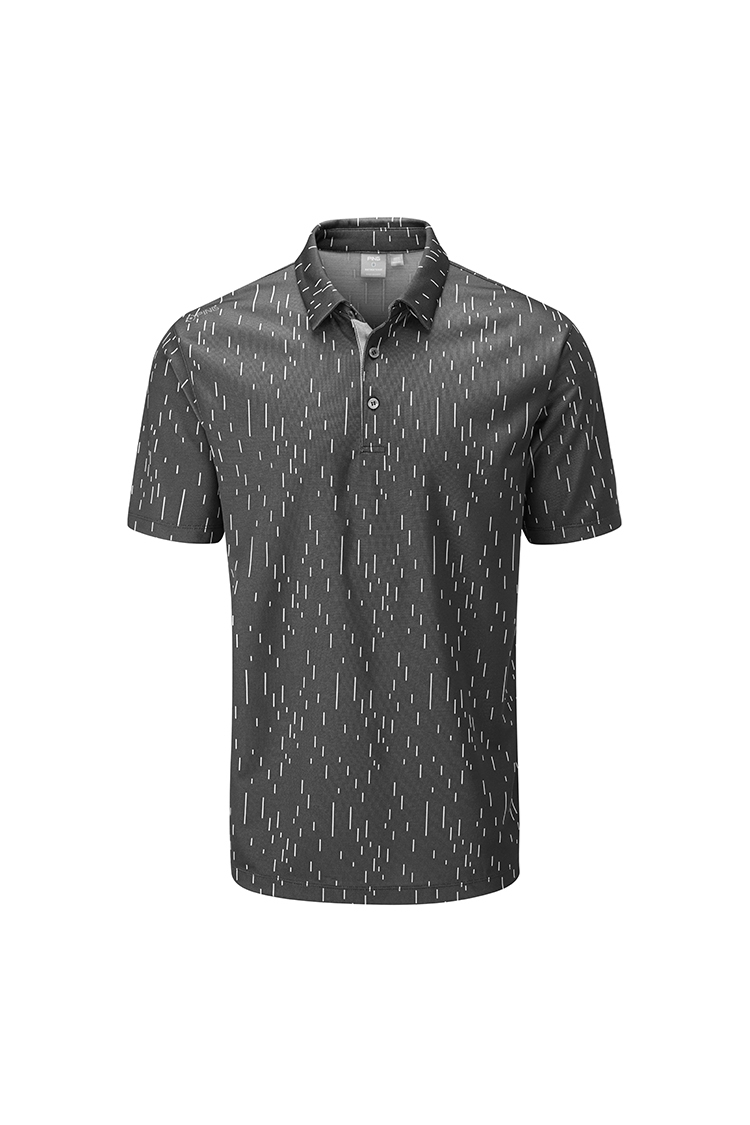 Picture of Ping Linear Jacquard Men's Golf Polo Shirt - Asphalt