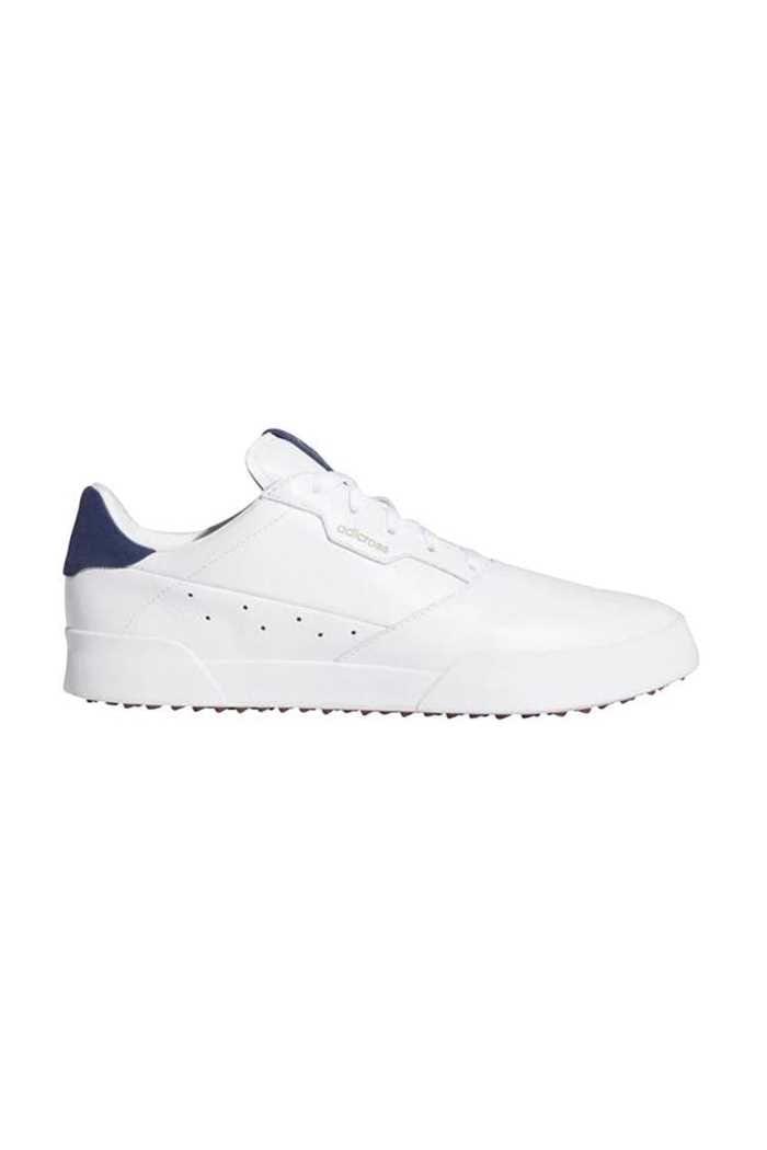 Picture of adidas Men's Adicross Retro Golf Shoes - White / Silver Metallic / Tech Indigo