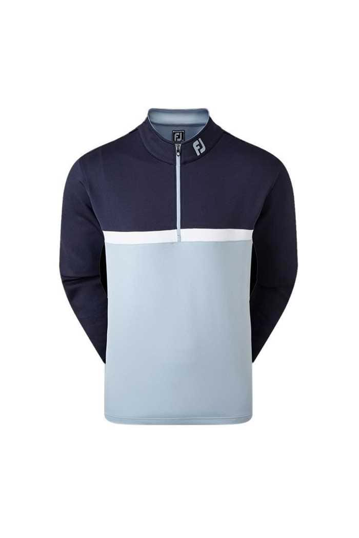Picture of Footjoy Colour Blocked Chill out Pullover - Navy / Blue / White