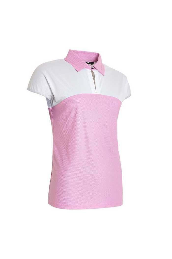 Picture of Abacus Ladies Vilna Cup Sleeve Polo Shirt - Peony 390