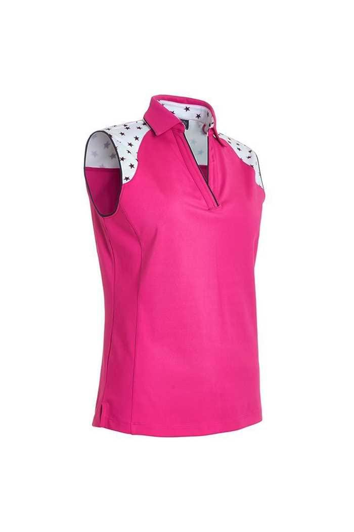 Picture of Abacus Ladies Emy Sleeveless Polo Shirt - Powerpink 284