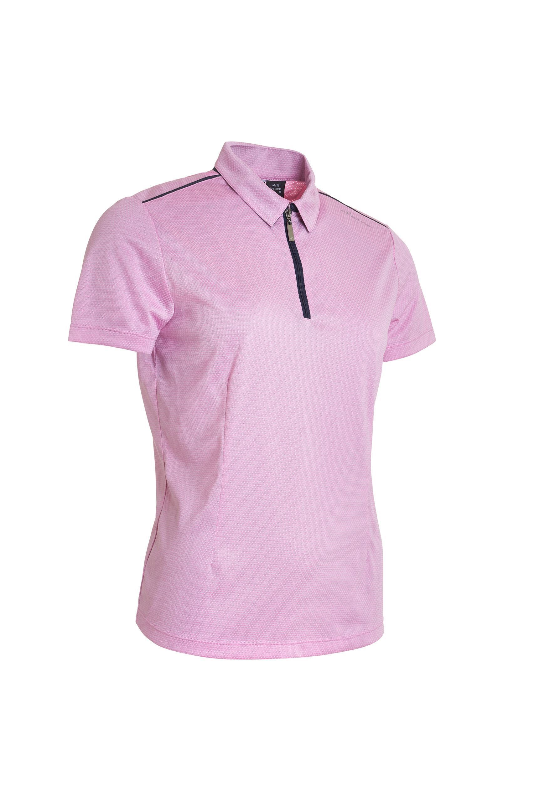 Picture of Abacus Ladies Vilna 1/2 Zip Polo Shirt - Peony 390