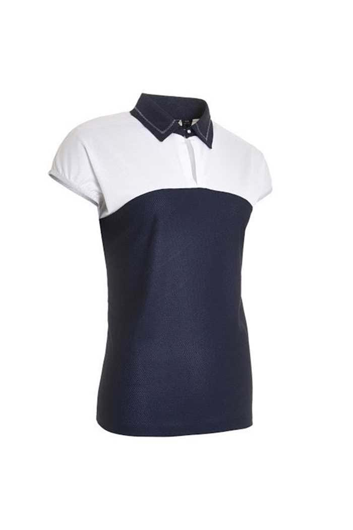 Picture of Abacus Ladies Vilna Cup Sleeve Polo Shirt - Navy 300