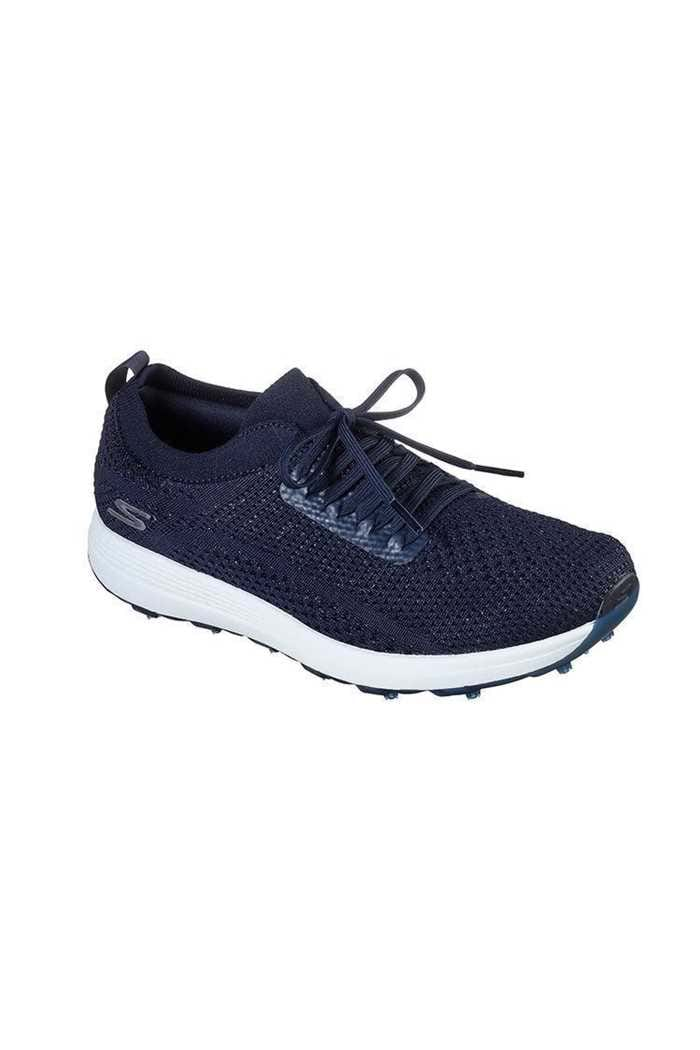 Picture of Skechers Ladies Max Glitter Golf Shoes - Navy / White