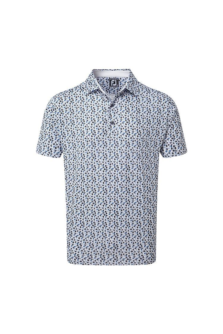 Picture of Footjoy Lisle Flower Print Polo Shirt - White