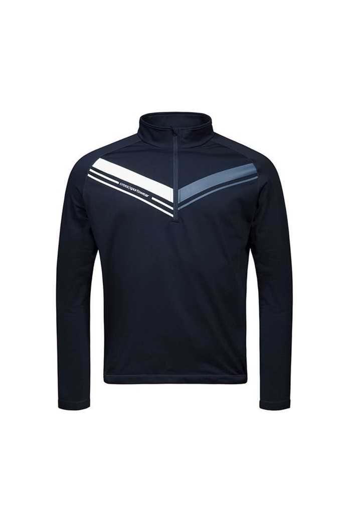 Picture of Cross Sportswear Men's Cut T-Neck Sweater - Navy