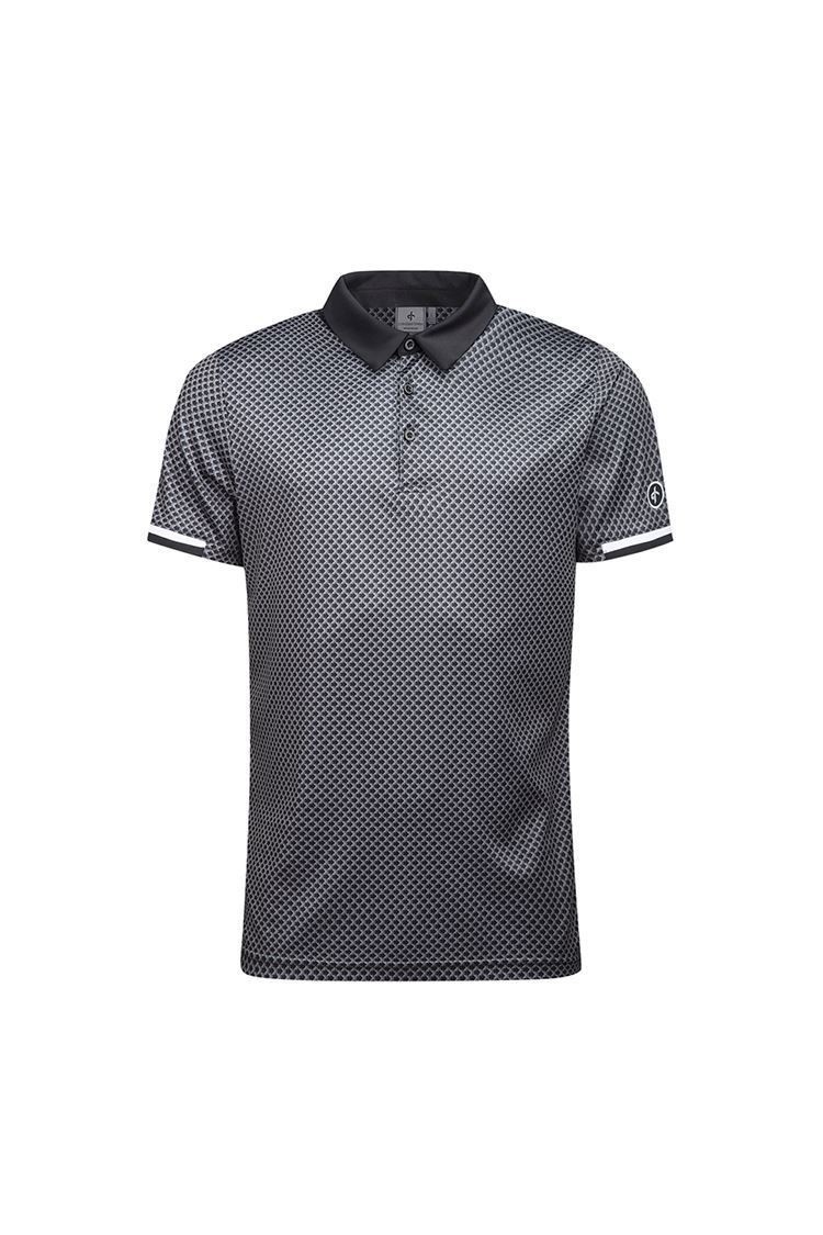 Picture of Cross Sportswear Men's Brassie Polo Shirt - Black Check