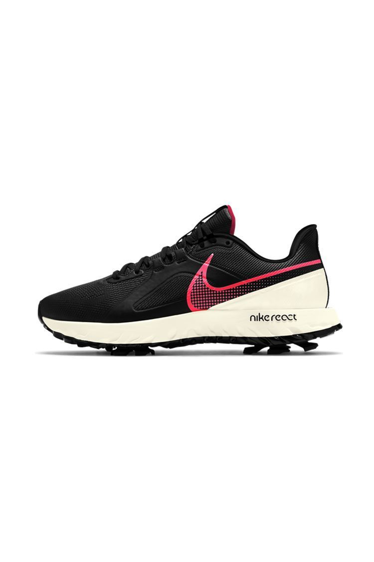 Picture of Nike Golf React Infinity Pro Golf Shoes - Black / Flash Crimson Pro