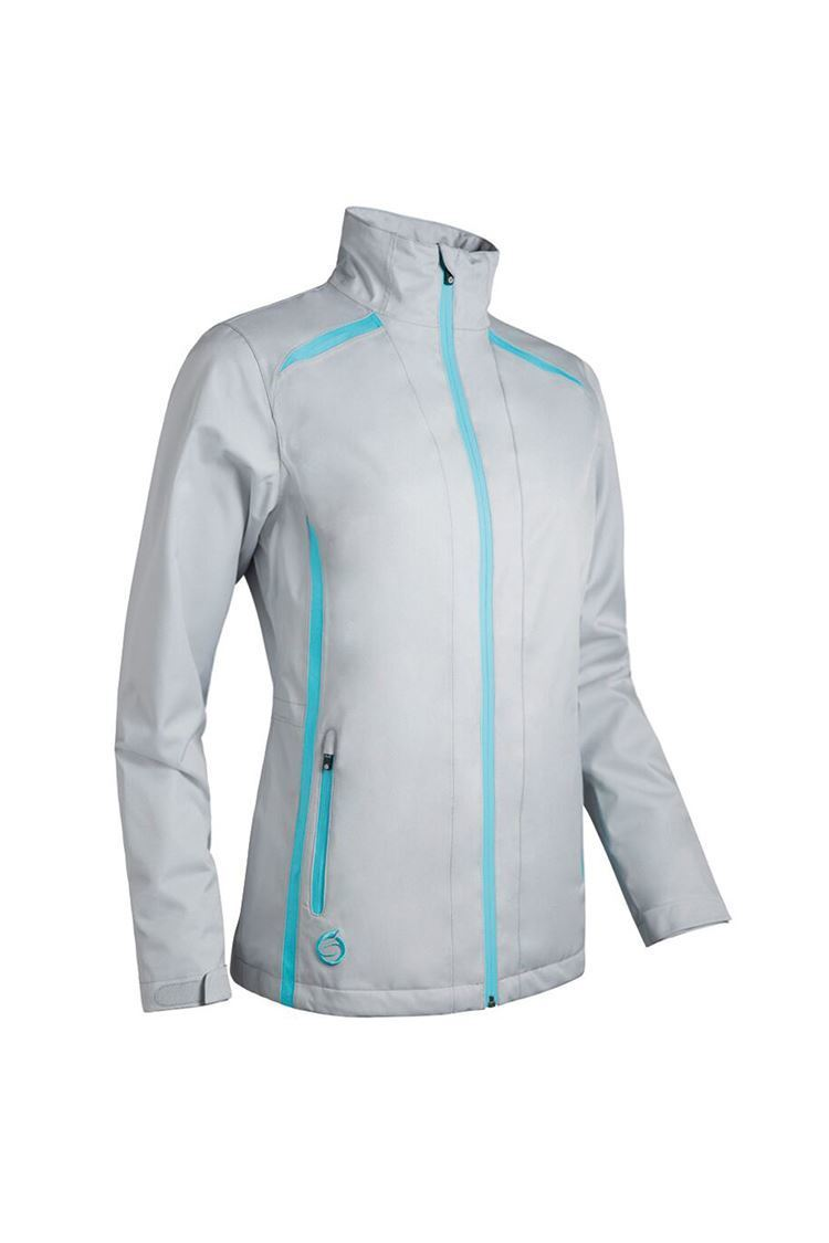 Picture of Sunderland of Scotland Ladies Killy Waterproof Jacket - Silver / Aqua