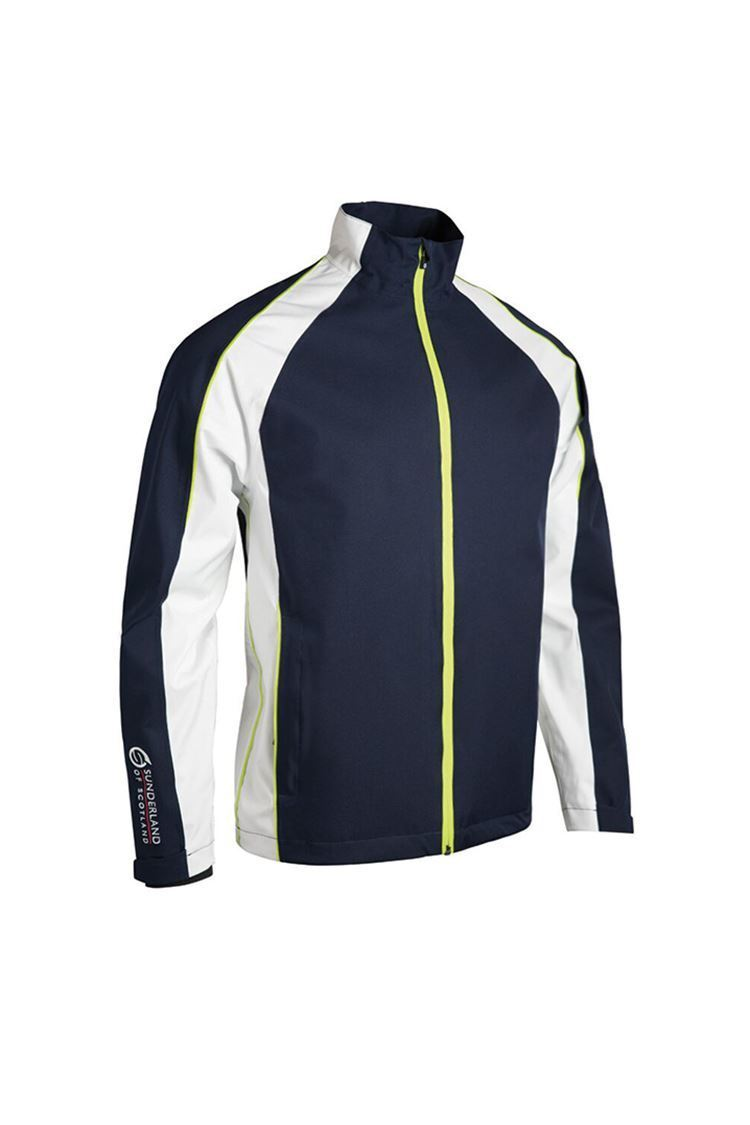 Picture of Sunderland of Scotland Men's Vancouver Pro Waterproof Jacket - Navy / White / Citrus