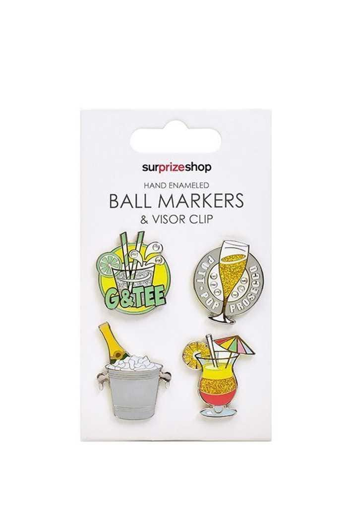 Picture of Surprizeshop Hand Enameled Ball Markers Set - It's 5 o'clock Somewhere