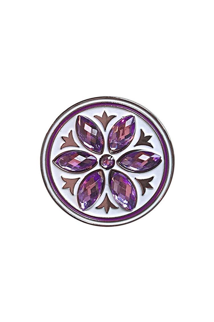 Picture of Surprizeshop Individual Ball Marker - Crystal Flower Ball Marker Purple