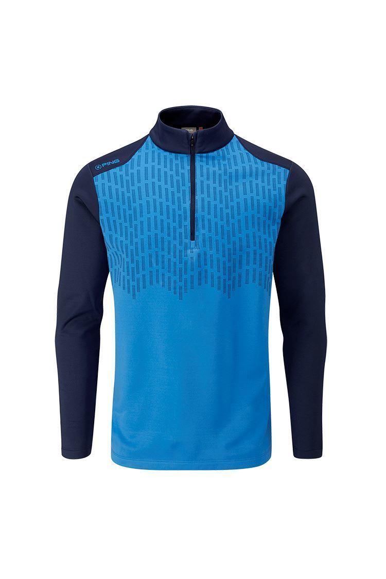 Picture of Ping Men's Nordic Half Zip Fleece Top - Brilliant Blue / Oxford Blue