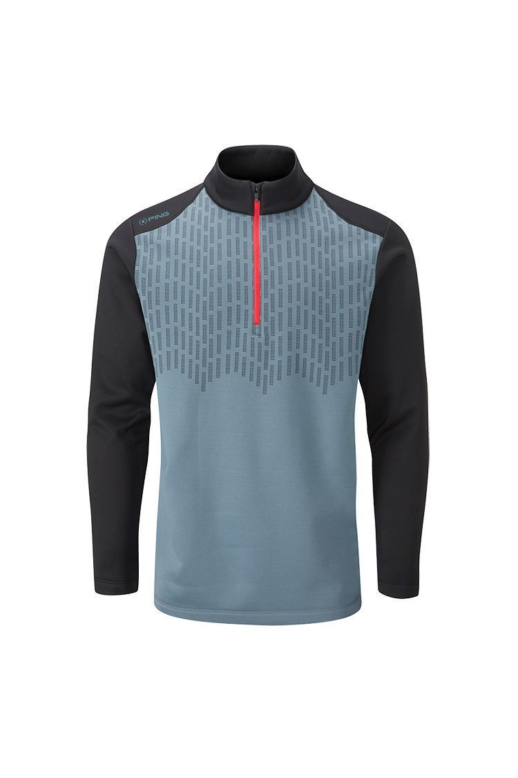 Picture of Ping Men's Nordic Half Zip Fleece Top - Greystone / Black